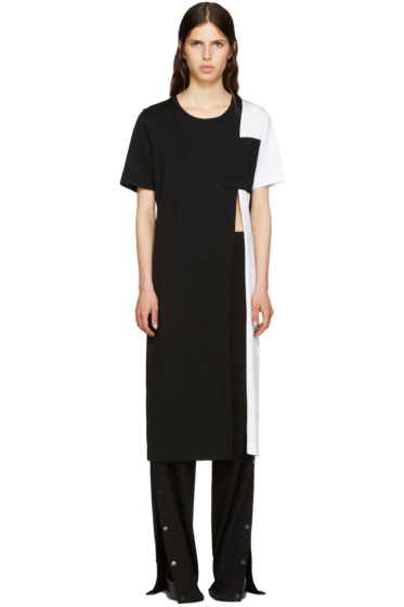 Facetasm - Black Slit T-Shirt Dress