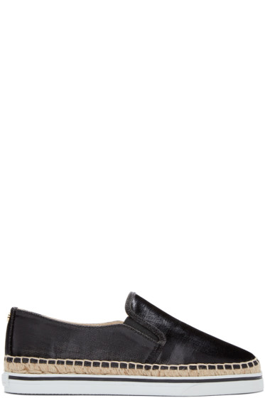 Jimmy Choo - Black Canvas Dawn Espadrilles