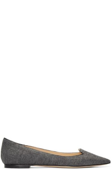 Jimmy Choo - Grey Flannel Atilla Flats