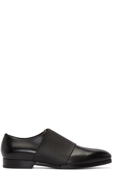 Jimmy Choo - Black Elastic Peter Loafers