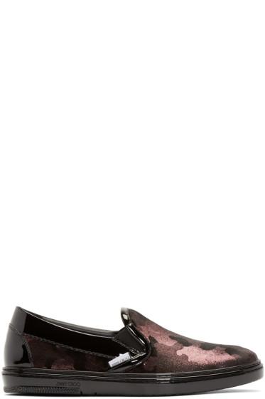 Jimmy Choo - Black & Pink Camouflage Grove Sneakers