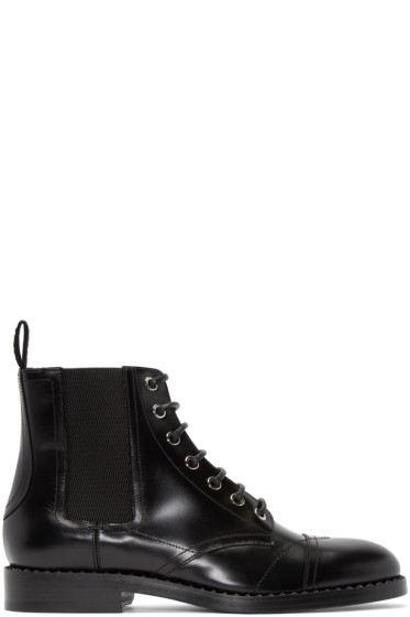 Jimmy Choo - Black Leather Jules Boots