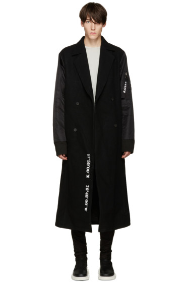 D.Gnak by Kang.D - Black Layered Coat