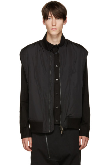 D.Gnak by Kang.D - Black Zip Vest