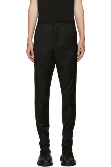 D.Gnak by Kang.D - Black Zip Cuffs Trousers