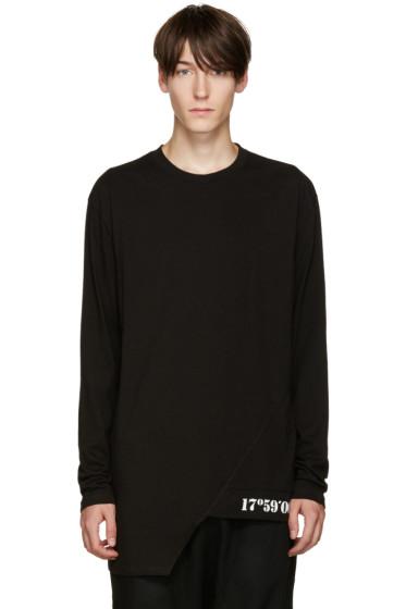 D.Gnak by Kang.D - Black Oblique Hem T-Shirt