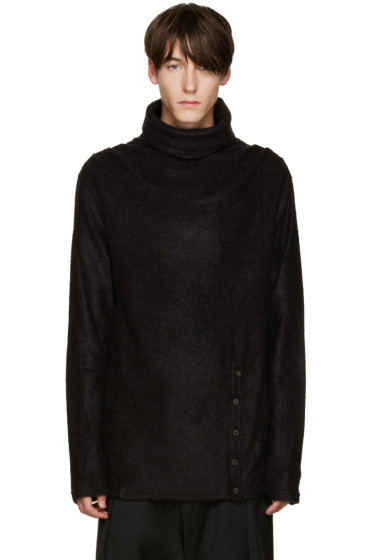 D.Gnak by Kang.D - Black Mohair Turtleneck
