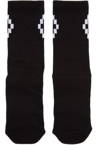 Marcelo Burlon County of Milan - Black Short Cruz Socks