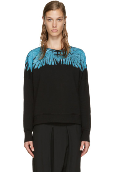 Marcelo Burlon County of Milan - Black Oversized Daina Sweatshirt