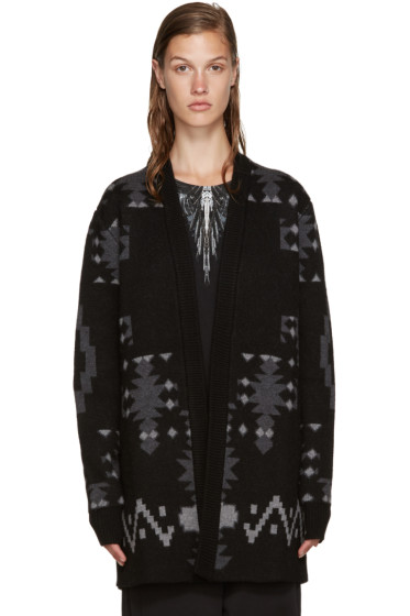 Marcelo Burlon County of Milan - Black & Grey Picudo Cardigan