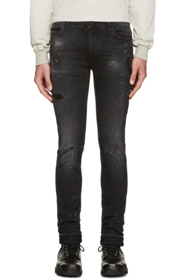 Marcelo Burlon County of Milan - Black Distressed Jeans