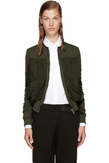 Haider Ackermann - Green Perth Bomber Jacket