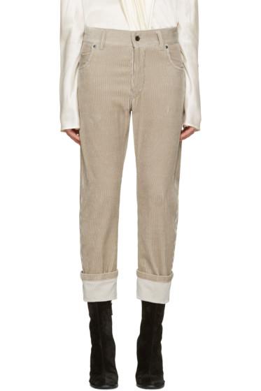 Haider Ackermann - Khaki Corduroy Trousers