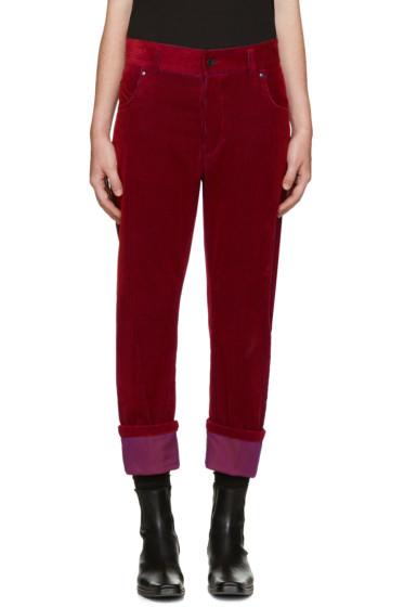 Haider Ackermann - Red Corduroy Trousers
