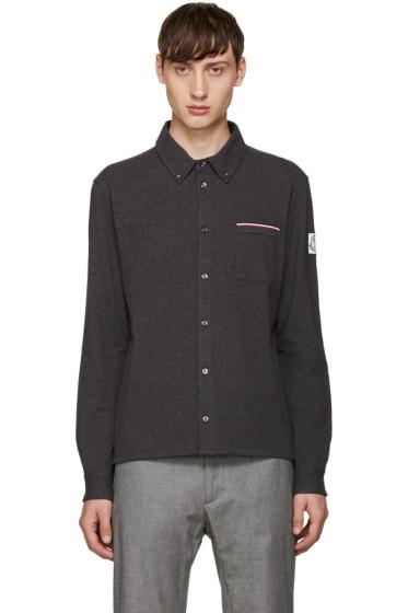 Moncler Gamme Bleu - Grey Knit Pocket Shirt