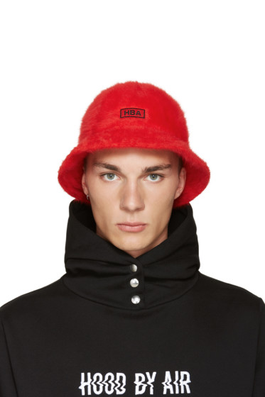 Hood by Air - Red Kangol Edition Bucket Hat