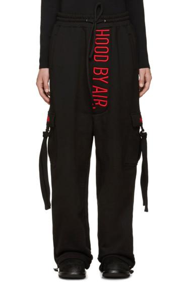Hood by Air - Black Cargo Lounge Pants