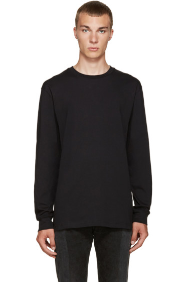 Hood by Air - Black Cut-Out T-Shirt