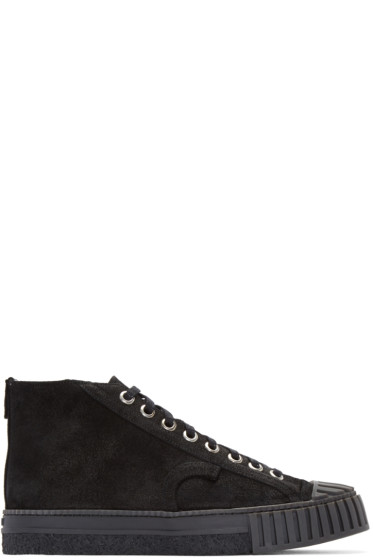 Adieu - Black Suede Type W.O. High-Top Sneakers