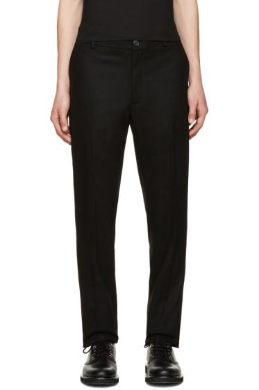 Giuliano Fujiwara - Black Wool Trousers