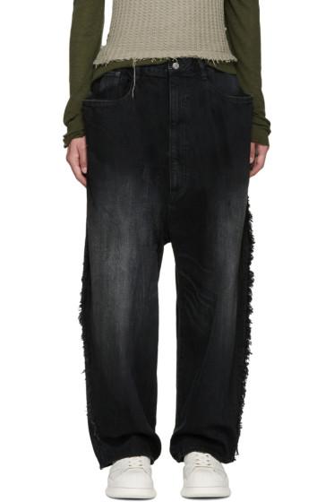 Miharayasuhiro - Black Oversized Jeans