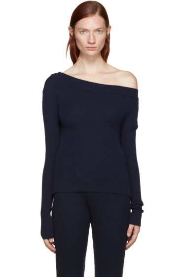 Jacquemus - Navy Single Shoulder Pullover