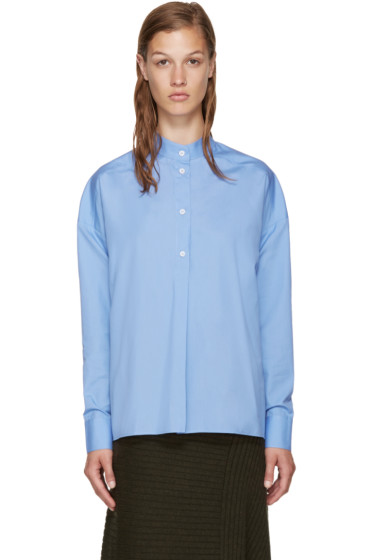 Each x Other - Blue Band Collar Shirt