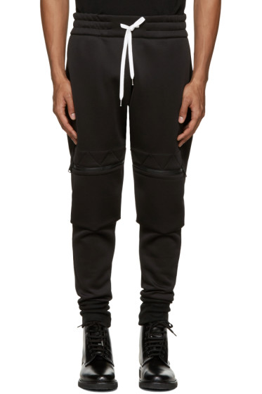 Pyer Moss - Black Panelled Zip Lounge Pants