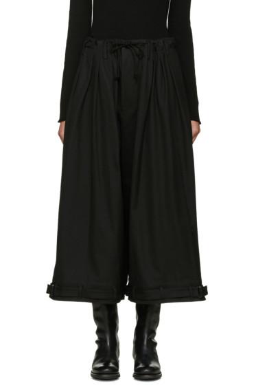 Yohji Yamamoto - Black Y-Tuck Wide-Leg Trousers