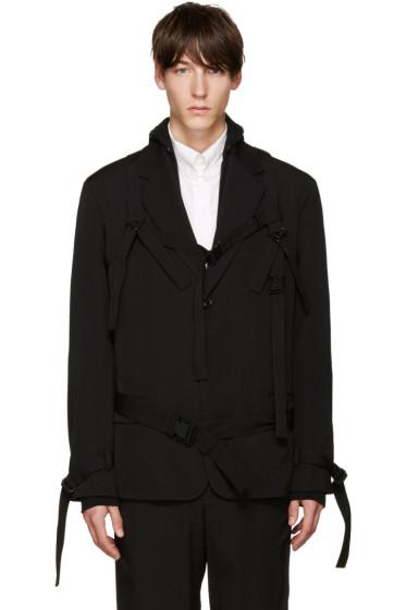 Yohji Yamamoto - Black Straps Blazer