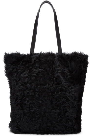 Yves Salomon - Black Shearling Tote