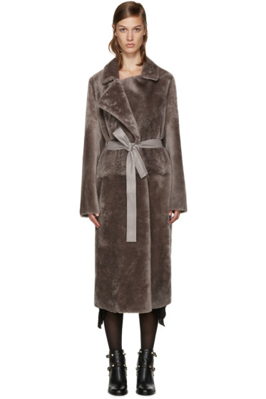 Yves Salomon - Reversible Grey Fur Coat