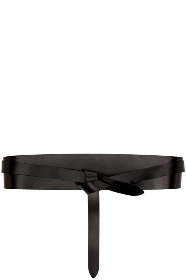 Isabel Marant Etoile - Black Leather Deb Belt