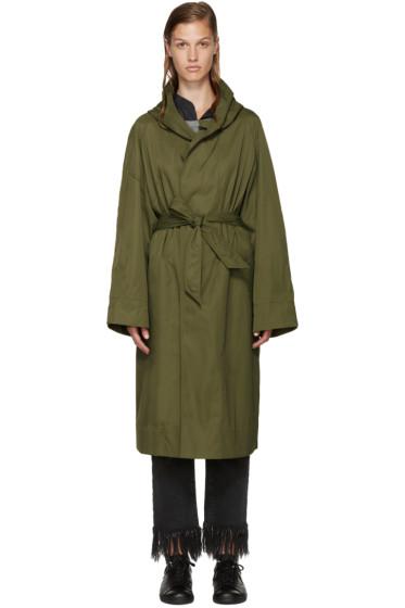Isabel Marant Etoile - Green Nylon Daker Trench Coat