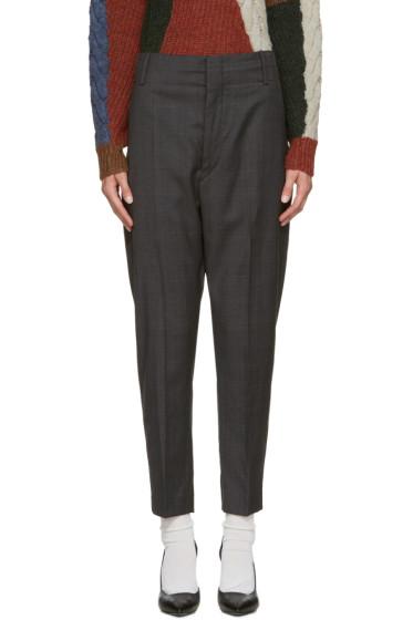 Isabel Marant Etoile - Grey Check Noah Trousers