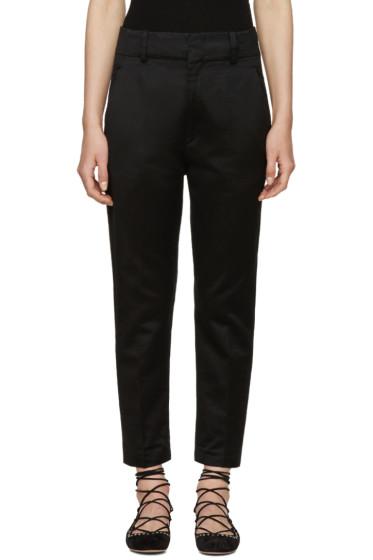 Isabel Marant Etoile - Black High-Rise Moah Trousers