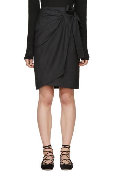 Isabel Marant Etoile - Grey Natacha Wrap Skirt