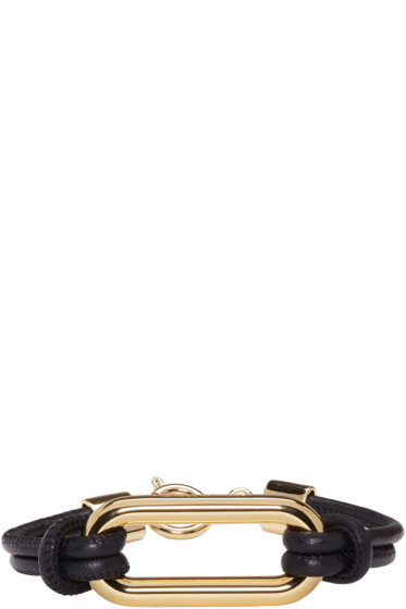 Isabel Marant - Black Leather Skate Bracelet