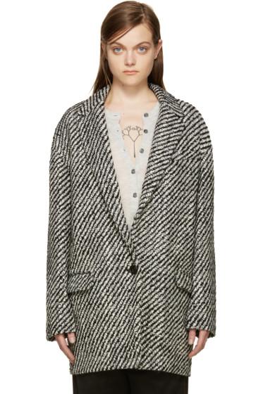 Isabel Marant - Black & White Ilaria Coat