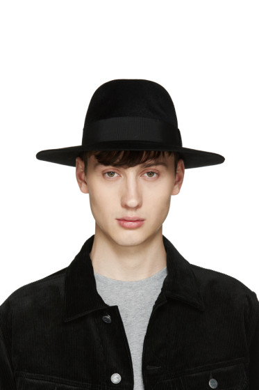 Larose - Black Rabbit Fur Fedora