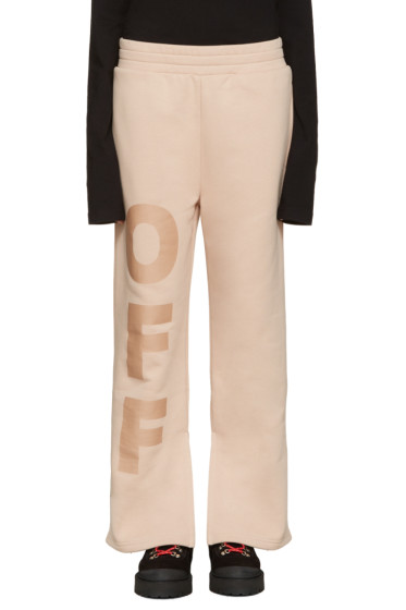 Off-White - Beige 'Off' Split Lounge Pants