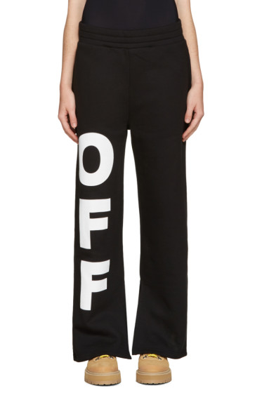 Off-White - Black 'Off' Split Lounge Pants