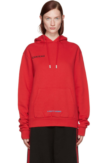 Off-White - Red 'Chateau' Hoodie