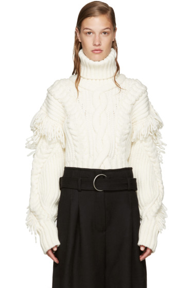 Off-White - Off-White Cable Knit Sweater