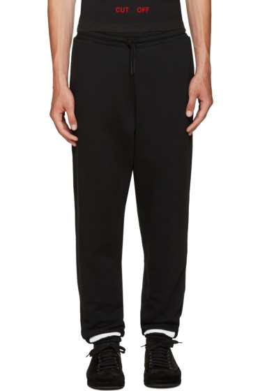 Off-White - Black Brushed Diagonals Lounge Pants