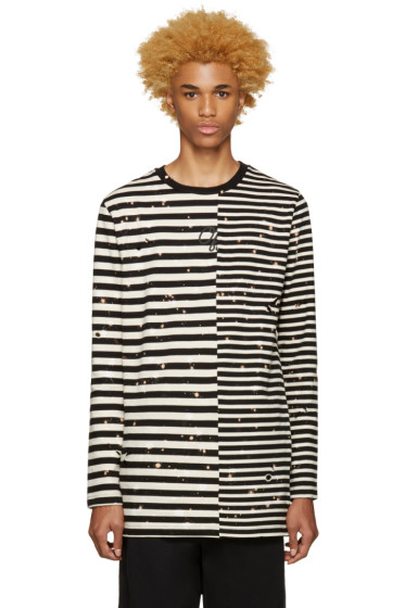 Off-White - Black & White Striped T-Shirt