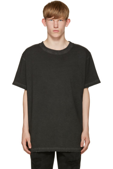 Off-White - Black Garment-Dye T-Shirt