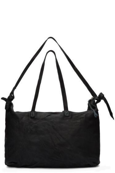 Boris Bidjan Saberi - Black Nubuck Weekend Bag