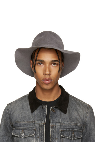 Diet Butcher Slim Skin - Grey Felt Wide Brim Hat