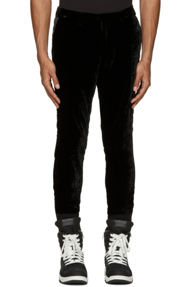 Diet Butcher Slim Skin - Black Velvet Trousers